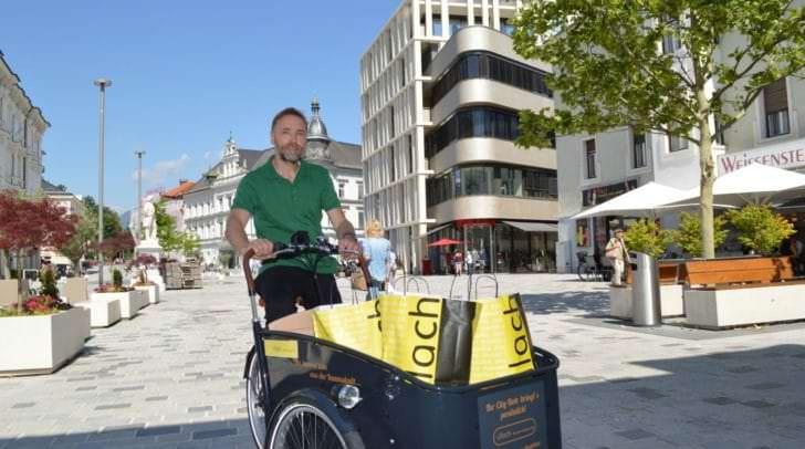 Ab morgen, Freitag, neu in der Villacher Innenstadt: Georg Moser ist der neue City-Bote! So wird das Einkaufen zum Erlebnis!