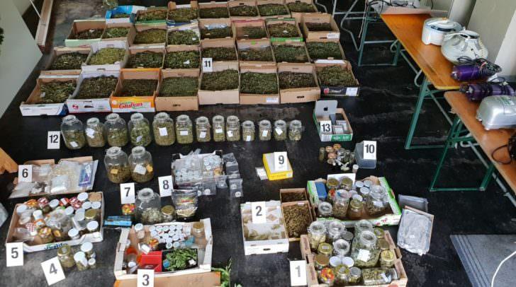 Cannabisblüten, Cannabisblätter, Cannabisharz, weitere derzeit unbekannte Suchtmittel, Utensilien, Verpackungsmaterial und abgeerntete Indoor- und Outdoorplantagen konnten sichergestellt werden.
