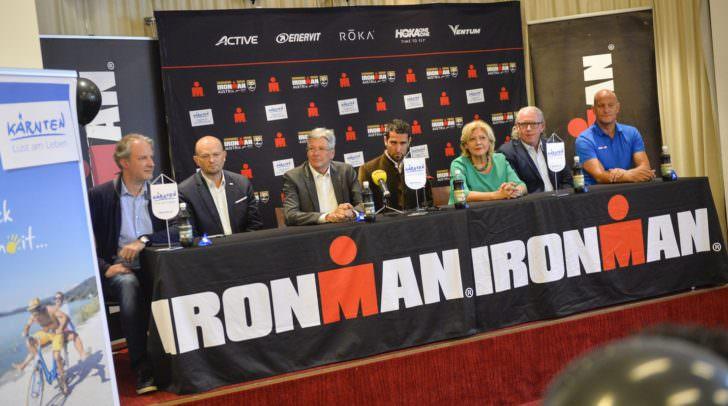 Pressekonferenz 20 Jahre Ironman Austria im Seepark-Hotel.