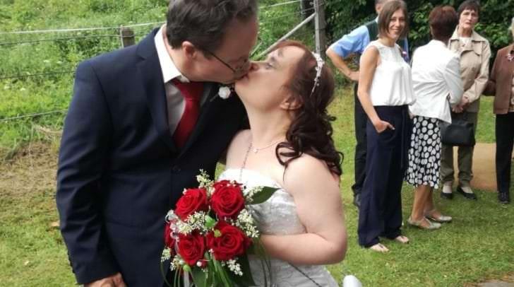 Gottfried und Andrea feierten heute, Donnerstag, ihre Hochzeit. Das besondere: Beide haben das Down-Syndrom.