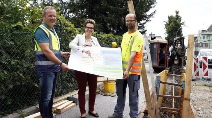Verlegung und Erneuerung der Trinkwasserleitung.