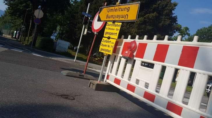 Im Stadtgebiet von Villach kommt es ab Montag zu mehreren Verkehrsbehinderungen.