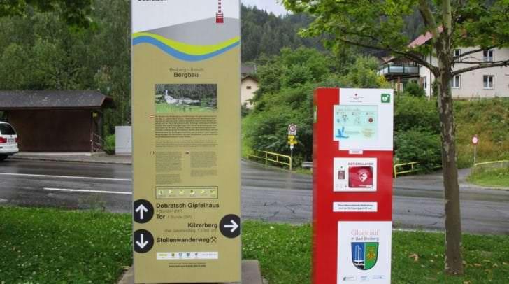 In ganz Kärnten sind die Defi-Säulen zu finden. So auch in Bad Bleiberg.