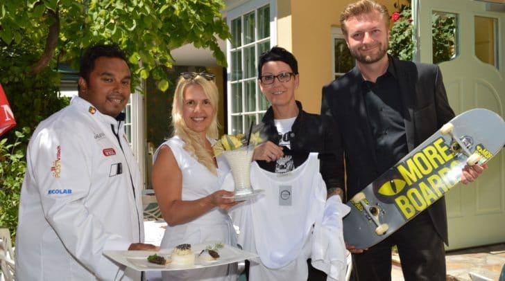 Von links Restaurantleiter Michael Deuringer, Hoteldirektorin Birgit Gschwenter, Marlies Putzi von Fashion-Store Mod(e)liza und Küchenchef Günther Steiner stecken bereits mitten in den Vorbereitungen.