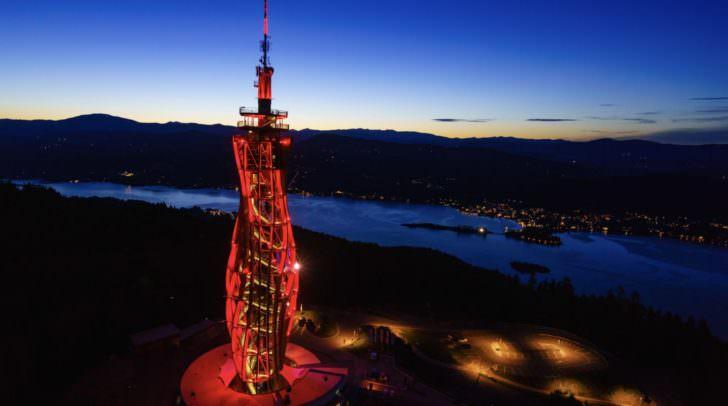 Lichtspektakel: Pyramidenkogel wird rot erleuchten