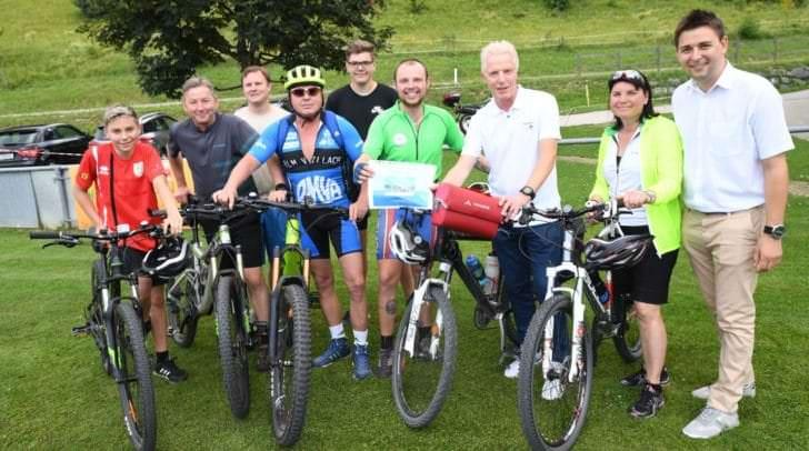 Philipp Hampel kehrte nach der rund zwei Monate langen Österreich-Radtour wieder in seine Heimat St. Egyden zurück.