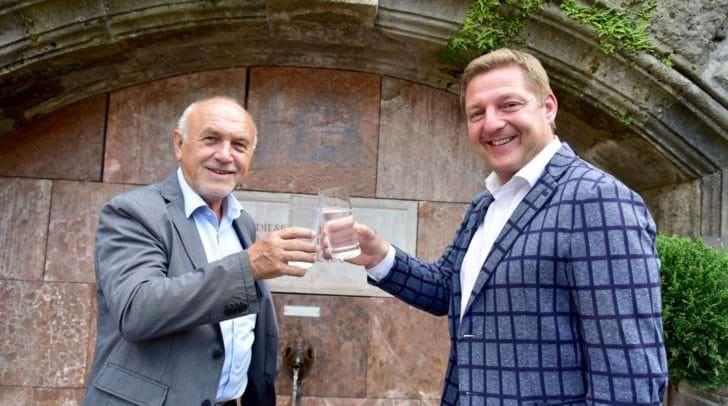 Bürgermeister Günther Albel und Bürgermeister Zwölbar