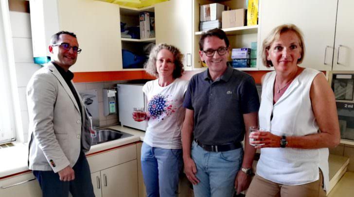 v.l. Stadtrat Mag. Franz Petritz mit den Experten Mag. Edith Rassi, DI<br /></noscript>Günther Maier und Dr. Birgit Trattler informierten zum Thema Wasserhygiene