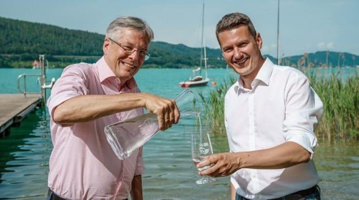 LH Peter Kaiser, LR Daniel Fellner nach erstem Arbeitstreffen zum Thema Wassercharta