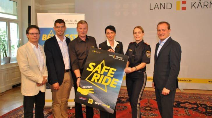 Schwerpunkt der Verkehrssicherheitskampagne Safe Ride-Safe Life ist, gezielte Maßnahmen zur Verbesserung der Verkehrssicherheit umzusetzen.