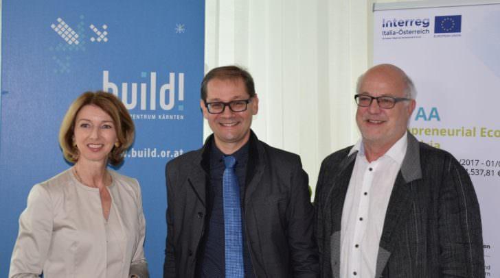 LHStv.in Gaby Schaunig, Robert Gfrerer und Hans Schönegger (Geschäftsführer der BABEG)