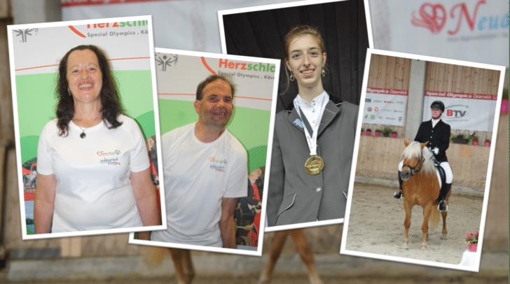 vl: Walpurga Maier und Werner Maitz (beide Lebenshilfe Ledenitzen) sowie Stefanie Bodner und Christian Moritz (beide Verein Horsense Ledenitzen) fahren zu den Special Olympics