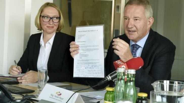 Pressekonferenz Landeswohnbau Kärnten mit GF Harald Repar und GF Wolfgang Ruschitzka
