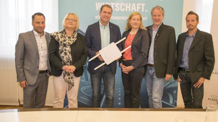 Neben ÖVP Stadtrat Markus Geiger, waren auch Vertreter der Klagenfurter Stadtwerke, der Alpen-Adria-Universität und vom Tourismusverband Klagenfurt bei der Pressekonferenz vor Ort.