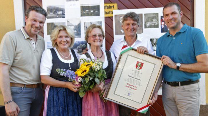 Wolfgang Germ, Maria Luise Mathiaschitz, Mutter Seebacher, Seebacher und Markus Geiger