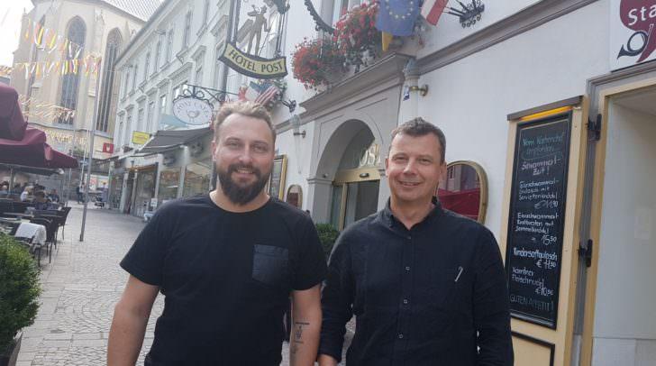 Sorgten in der Übernahmephase für heisse Diskussionen: Die Unternehmer Andreas Hofmayer und Hansjörg Kofler möchten frischen Wind nach Villach bringen.