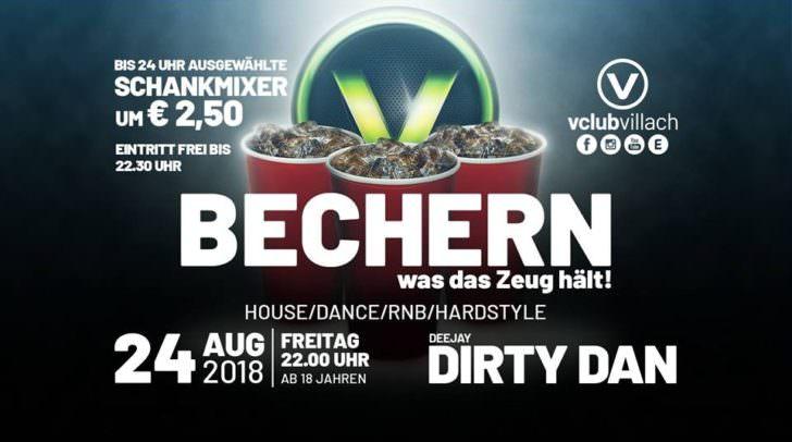 Bechern – eine der legendärsten Events im V-Club Villach!