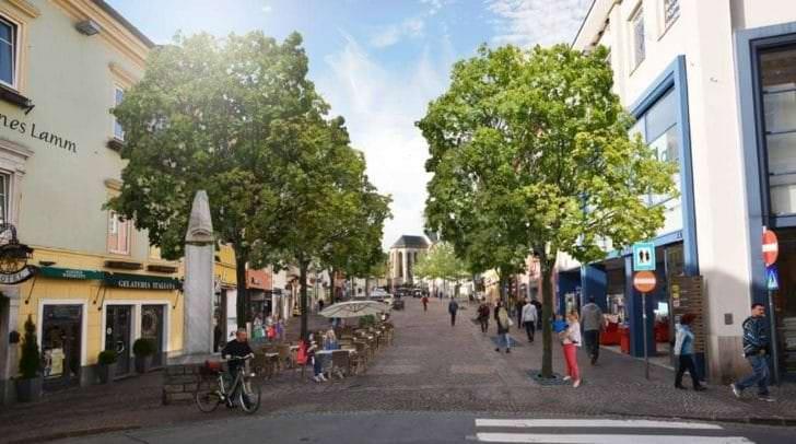 So könnte der Villacher Hauptplatz bald aussehen.