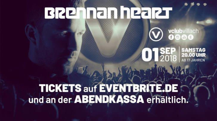 Er lässt jedes Hardstyle-Herz höher schlagen – Brennan Heart kommt in den V-Club.