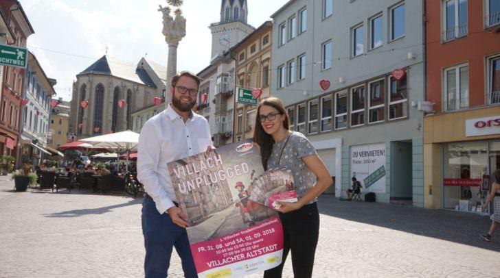 v.l.n.r.: Marc Germeshausen und Eva Kobin vom Verein GEMMA freuen sich auf Villach unplugged.