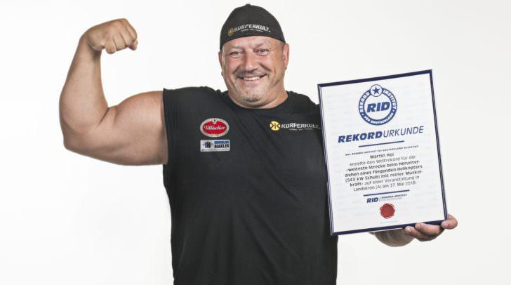 Der Weltrekord wurde am Landsitz Landskron aufgestellt.