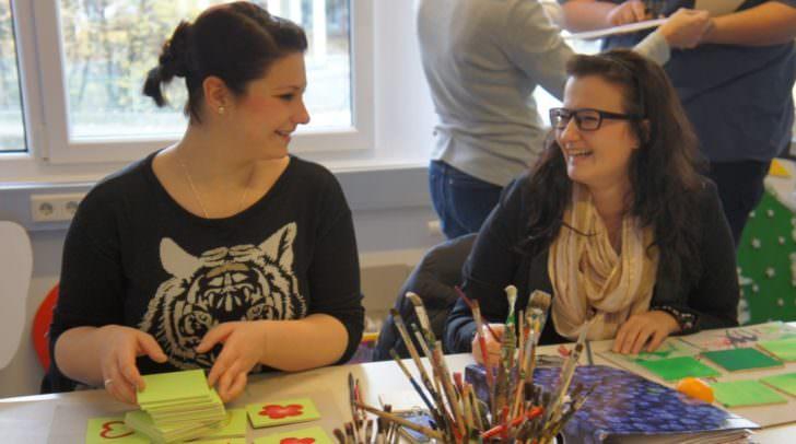 Kreativität spielt in der Ausbildung eine wichtige Rolle.