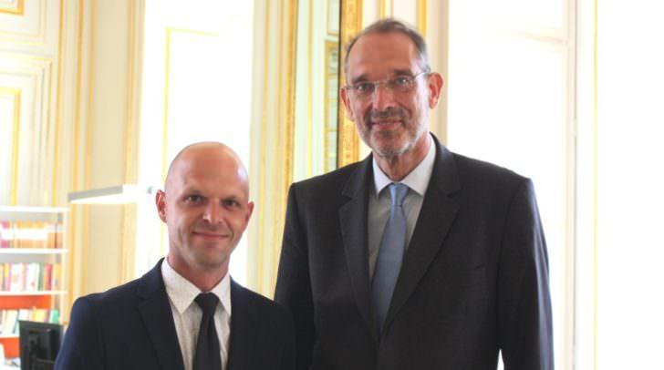Angelobung des neuen Kärntner Bildungsdirektors Robert Klinglmair durch Bildungsminister Heinz Faßmann.