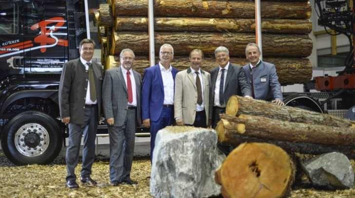 Die 55. internationale Holzmesse mit WKK Präsidenk Jürgen Mandl, Reinhard Rohr, LWK Präsident  Johann Mössler, LH Peter Kaiser und Messe-Direktor Erich Hallegger