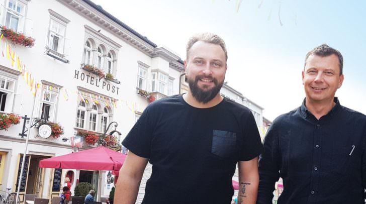 Die Unternehmer Andreas Hofmayer und Hansjörg Kofler möchten frischen Wind nach Villach bringen.