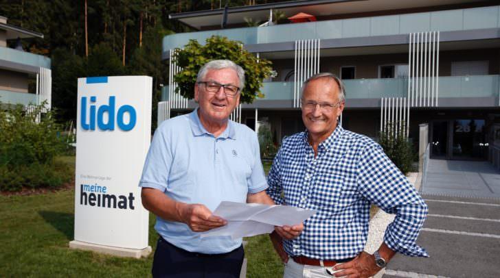 Oskar Seidler mit Vorstandsvorsitzendem Helmut Manzenreiter