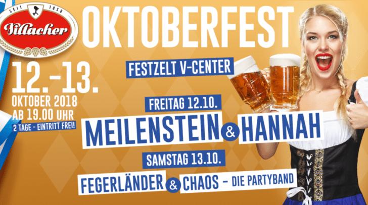 Am 12. und 13. Oktober findet wieder das Villacher Oktoberfest am V-Center Parkplatz statt!