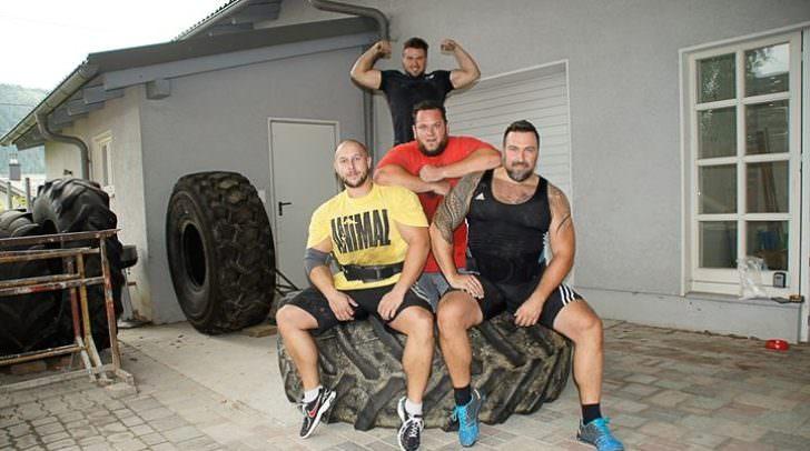Die vier Strongmen aus Villach und Umgebung möchten in Zukunft an vielen weiteren Wettkämpfen teilnehmen.