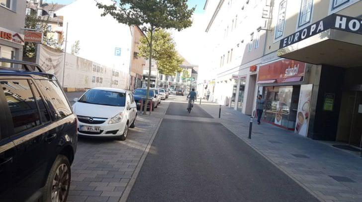 Vor Ort in der Bahnhofstraße