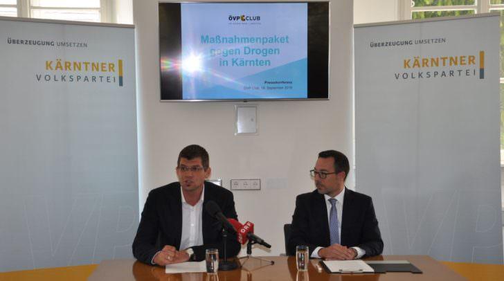 Martin Gruber (LPO) und CO Markus Malle bei der Pressekonferenz am 18. September.