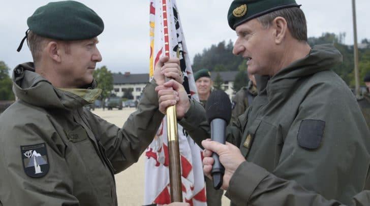 Bundesminister für Landesverteidigung  Mario Kunasek bei der Kommandoübergabe 7. Jägerbrigade Klagenfurt am 03. September 2018
