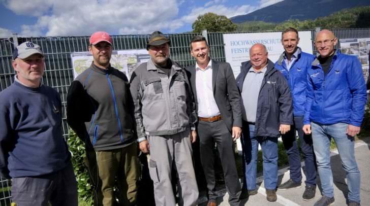 Landesrat Daniel Fellner bei der Abschlussfeier des Hochwasserschutzprojektes in Feistritz an der Drau.