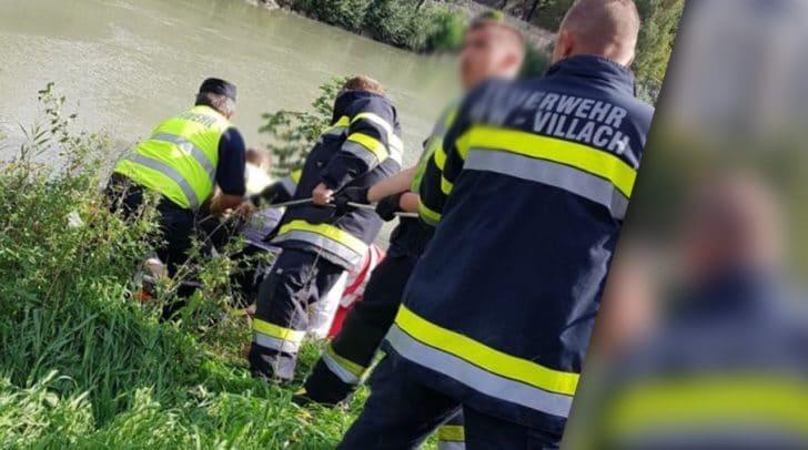 Der, aus noch unbekannter Ursache über die Böschung gestürzte Mann, konnte von der Hauptfeuerwache Villach geborgen und anschließend dem Roten Kreuz übergeben werden.