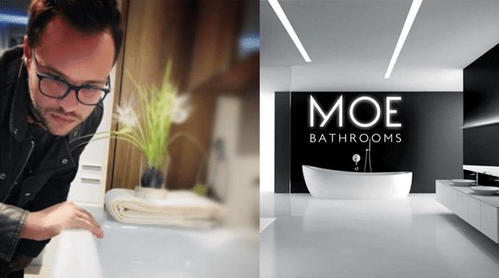 Design und Interieur sind seine Berufung. Und das sieht und spürt man auch wenn man die Raumkreationen vom MOE Bathrooms Chef sieht.