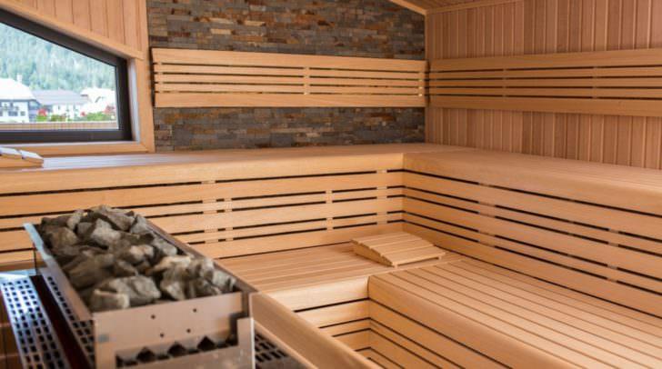 In der Sauna lässt es sich gut entspannen.