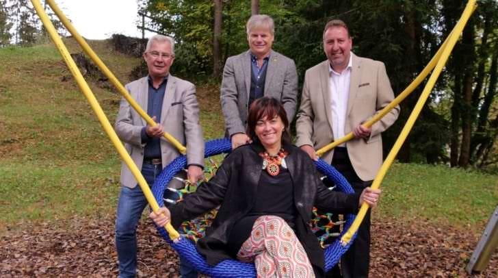 Von links: Stadtrat Harald Sobe, Gemeinderat Horst Hoffmann, Stadtrat Erwin Baumann, Vizebürgermeisterin Dr.in Petra Oberrauner.