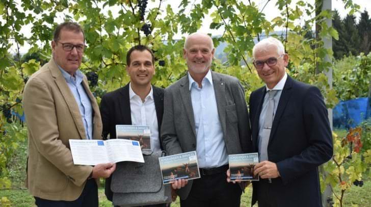 Von links: KTS-Direktor Gerfried Pirker, Tourismuscoach Stefan Domenig, Alois Fertala (KTS) und FBS-Direktor Reinhard Angerer.