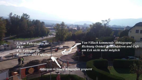 Dem Ortsteil Neulandskron wird die Einbiegespur weggenommen.