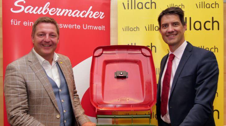 Bürgermeister Günther Albel (li.) und Saubermacher Vorstandssprecher Ralf Mittermayr präsentieren die neuen