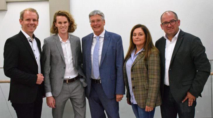 LGF Andreas Sucher, EU-Kandidat Luca Kaiser, LH Peter Kaiser, EU-Kandidatin Claudia Boyneburg-Lengsfeld-Spendier und EU-Kandidat Harry Koller