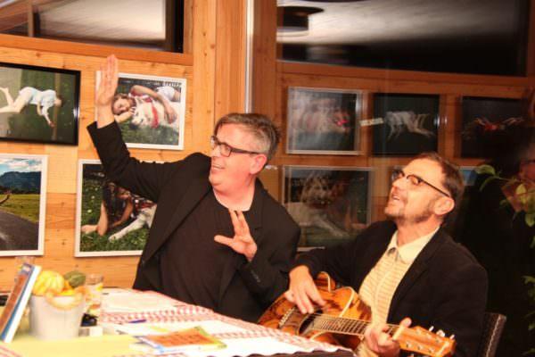 Franz Josef und Martin Moped begeisterten das Publikum am Aichwaldsee mit einer tollen Show.