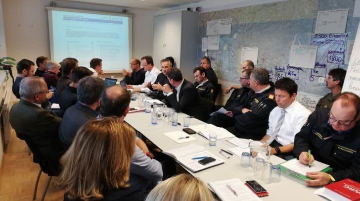 Pressekonferenz nach der Sitzung des Landeskoordinationsausschusses zur Hochwasserwarnung