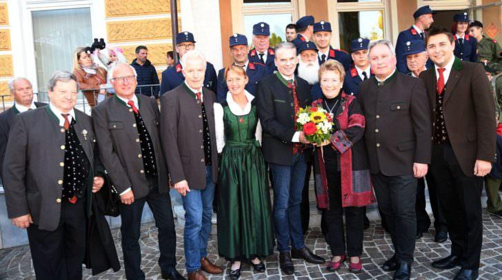 Am Gemonaplatz fand die erste von mehreren Gedenkfeiern in Velden und St. Egyden statt.