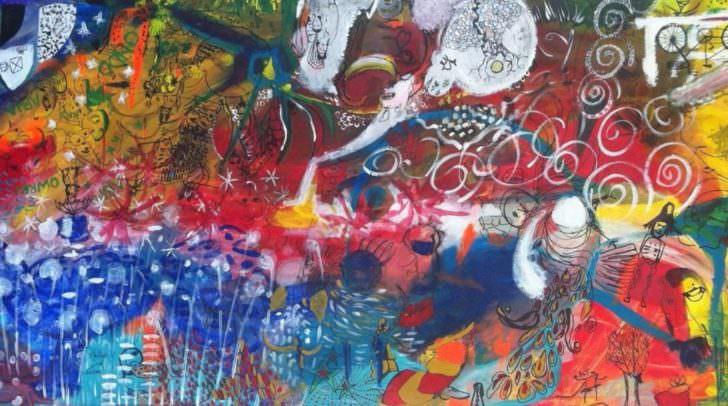 Internationales Malen im Westbahnhof präsentiert die Arbeiten der letzten drei Jahre