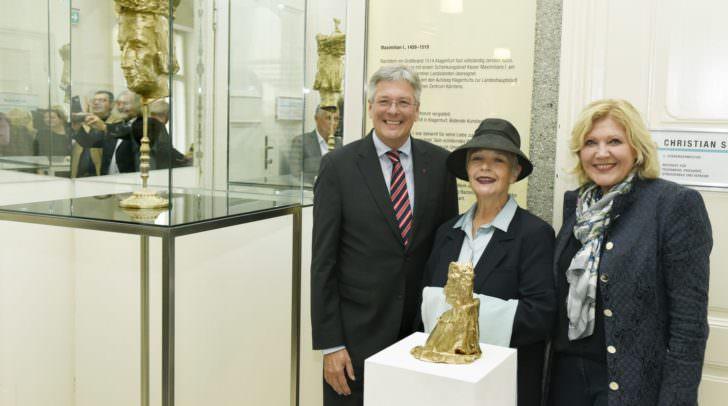 Besonderes Highlight von Klagenfurt 500: Die Enthüllung der Büste zu Ehren Kaiser Maximilians.