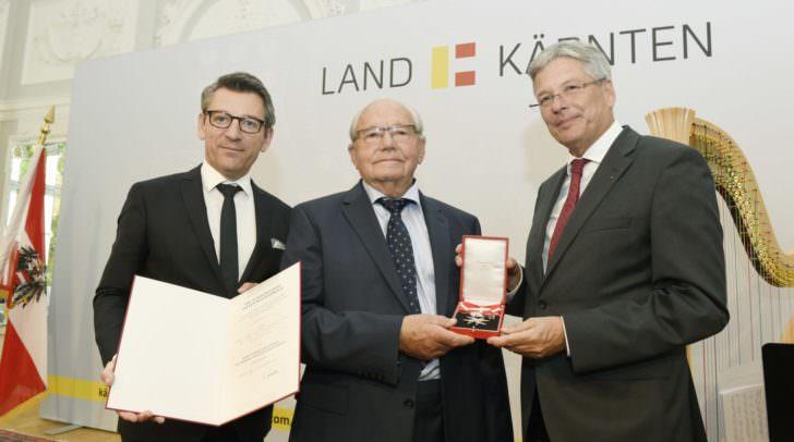 v.l.n.r.: Jürgen Meindl, Alois Brandstetter, LH Peter Kaiser